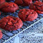 Cream Cheese Swirled Red Velvet Cookies | www.momstestkitchen.com | #SundaySupper