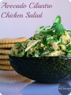 Avocado Cilantro Chicken Salad | www.momstestkitchen.com