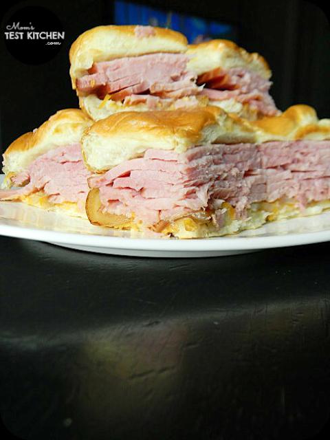 Honey Dijon Ham Sliders   www.momstestkitchen.com