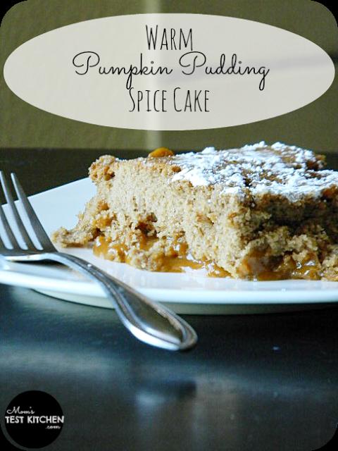 Warm Pumpkin Pudding Spice Cake | www.momstestkitchen.com | #VeryPumpkinBirthday