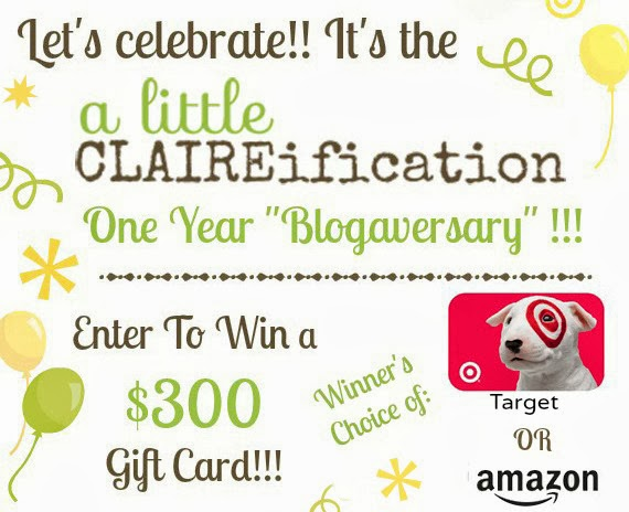 A Little CLAIREification One Year Blogaversary #Giveaway