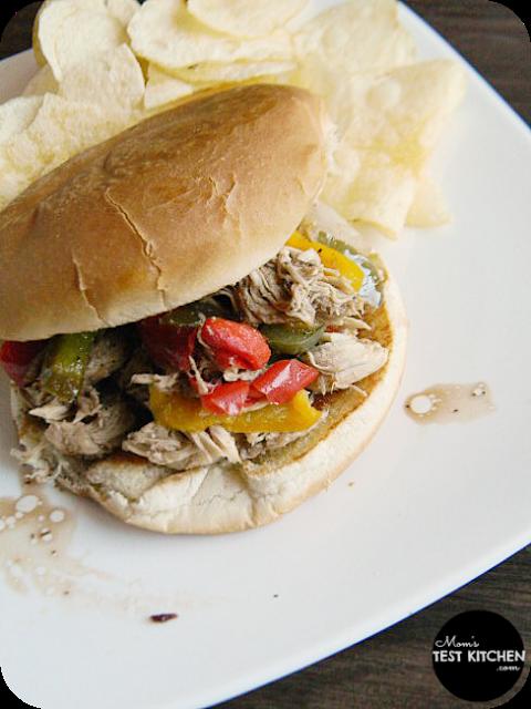 Balsamic Chicken & Pepper Sandwich | www.momstestkitchen.com | #PepperParty