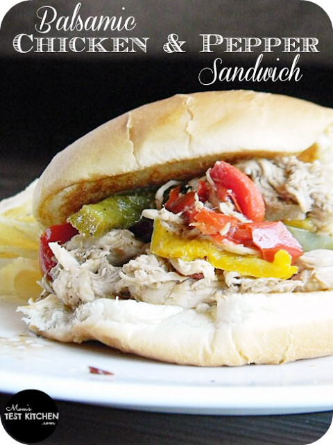 Balsamic Chicken & Pepper Sandwich | www.momstestkitchen.com | #PepperParty