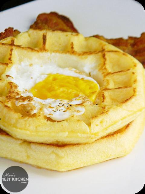 Egg in a Hole Waffles   www.momstestkitchen.com   #WaffleWednesdays