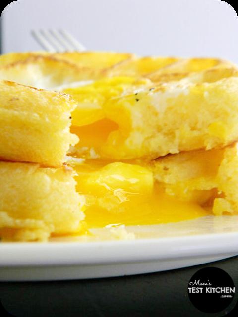 Egg in a Hole Waffles | www.momstestkitchen.com | #WaffleWednesdays