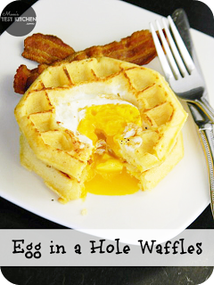 Egg in a Hole Waffles | www.momstestkitchen.com | #WaffleWednesdays