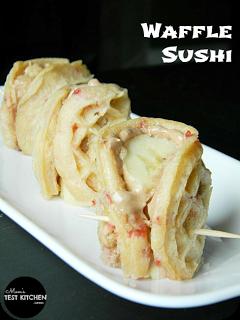 Waffle Sushi   www.momstestkitchen.com   #WaffleWednesdays