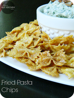 Fried Pasta Chips | www.momstestkitchen.com