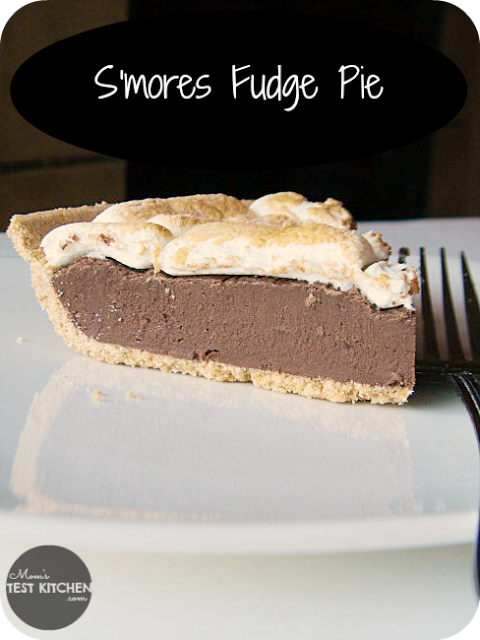 S'mores Fudge Pie | www.momstestkitchen.com | Only 4 ingredients!