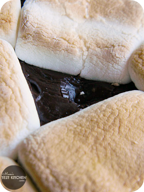 S'mores Fudge Pie | www.momstestkitchen.com | Only 4 ingredients!