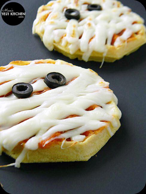 Waffle Mummy Pizzas | www.momstestkitchen.com | #WaffleWednesdays