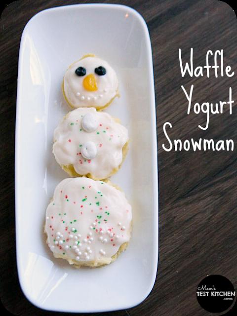 Waffle Yogurt Snowman | www.momstestkitchen.com | #WaffleWednesdays