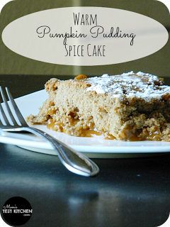 Warm Pumpkin Pudding Spice Cake | www.momstestkitchen.com