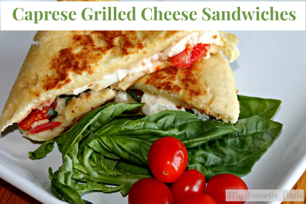Caprese Grilled Cheese Sandwiches #easylunch #sandwiches