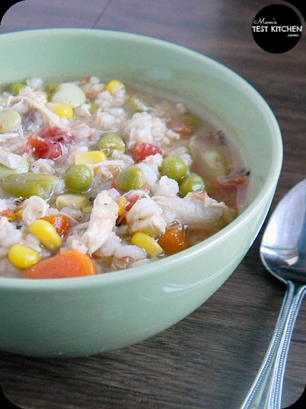 Quick & Easy Chicken & Rice Soup | www.momstestkitchen.com | #sponsored