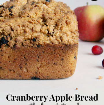 Cranberry Apple Bread with Almond Streusel #sponsored