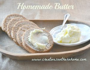 homemade butter feature