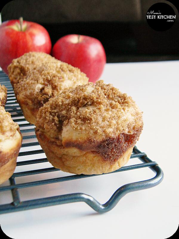 Apple Brown Sugar Cinnamon Muffins | www.momstestkitchen.com