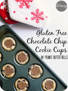 Chocolate Chip Cookie Cups with Peanut Butter Bells | www.momstestkitchen.com | #GlutenFree