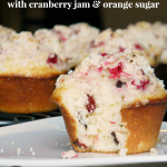 Cranberry Muffins with Cranberry Jam & Orange Sugar | www.momstestkitchen.com | #PAMSmartTips #ad