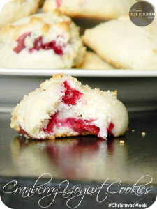 Cranberry Yogurt Cookies | www.momstestkitchen.com | #ChristmasWeek