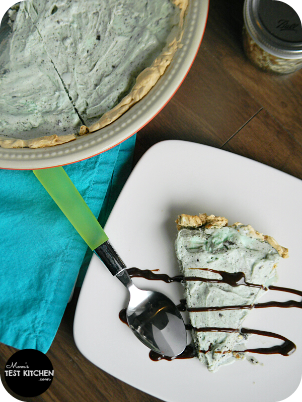 Easy Ice Cream Pie with Waffle Cone Crust | www.momstestkitchen.com | #SlowChurnedSmiles #ad