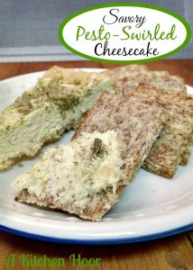 Savory Pesto-Swirled Cheesecake | www.momstestkitchen.com | #contributor