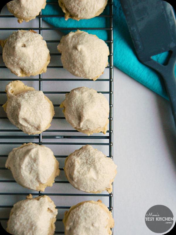 Pumpkin Sugar Cookies with Brown Sugar Buttercream Glaze   www.momstestkitchen.com   #CartonSmart #ad