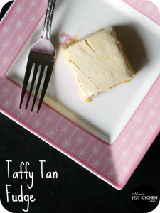 Taffy Tan Fudge | www.momstestkitchen.com | #ChristmasWeek