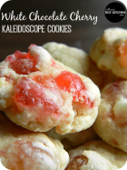 White Chocolate Cherry Kaleidoscope Cookies | www.momstestkitchen.com