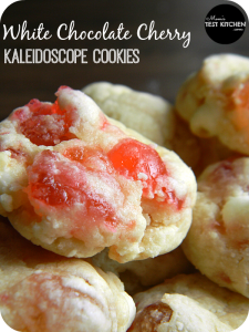 White Chocolate Cherry Kaleidoscope Cookies | www.momstestkitchen.com