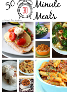 50 Thirty Minute Meals | www.momstestkitchen.com | #roundup