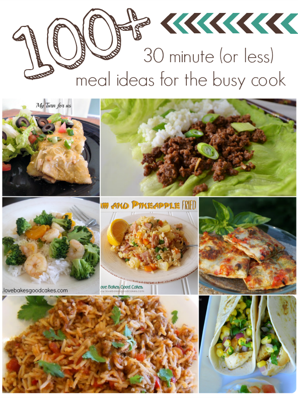 100+ 30 minute meals