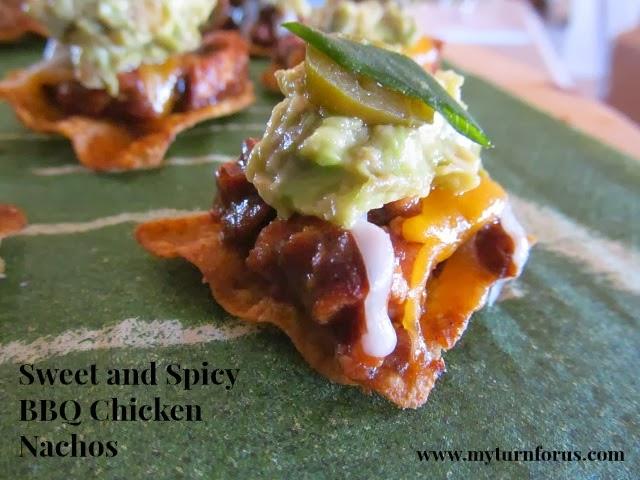 Sweet & Spicy BBQ Chicken Nachos | My Turn for Us