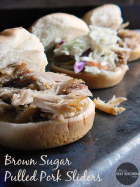 Brown Sugar Pulled Pork Sliders | www.momstestkitchen.com | #FrugalFixins