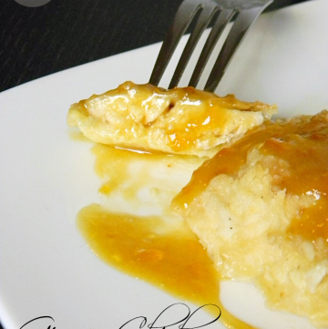 Ginger Chicken with Apricot Dijon Sauce