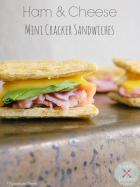 Ham & Cheese Mini Cracker Sandwiches | www.momstestkitchen.com | #AppetizerWeek