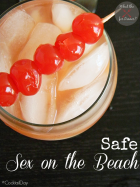 Safe Sex on the Beach Mocktail | MomsTestKitchen.com | #CocktailDay
