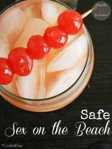 Safe Sex on the Beach Mocktail | MomsTestKitchen.com | #CocktailDay