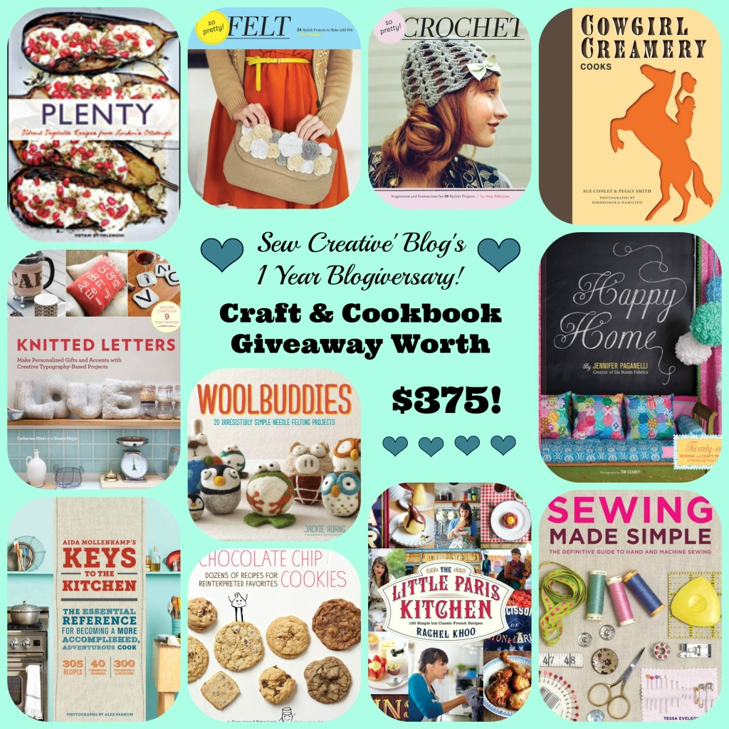 Sew Creative Blog's 1 Year Blogiversary #Giveaway