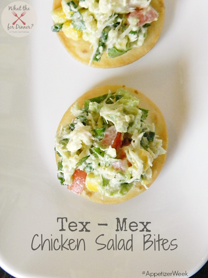 Tex-Mex Chicken Salad Bites | MomsTestKitchen.com | #AppetizerWeek