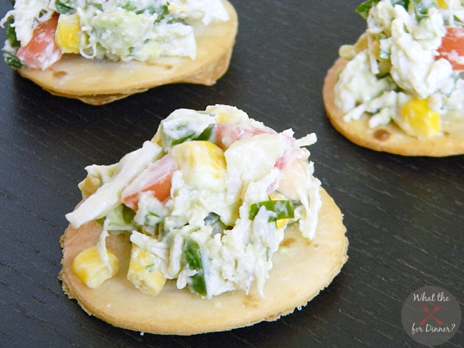 Tex-Mex Chicken Salad Bites | #AppetizerWeek