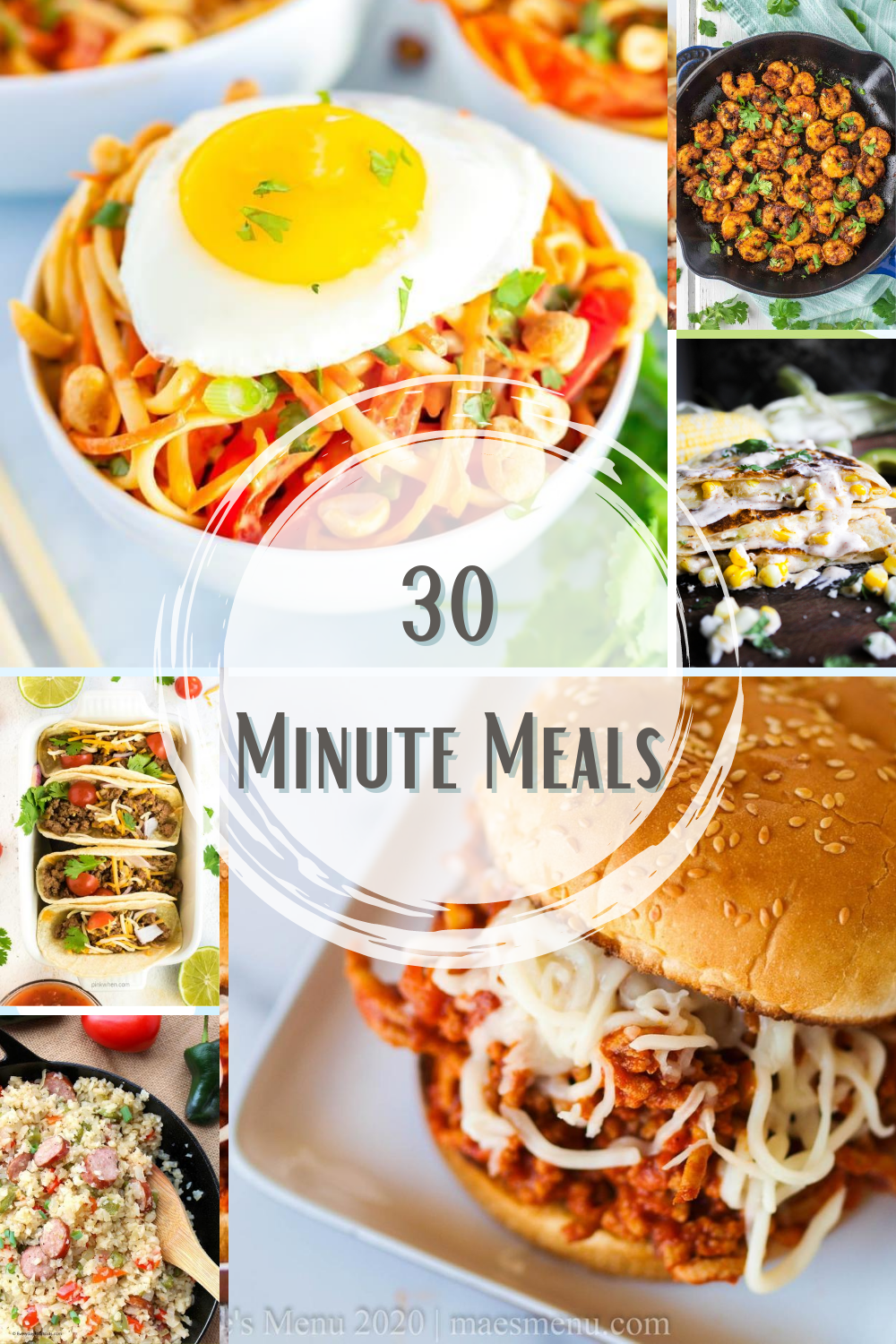 With the kids headed back to school, make life easier with any of these 50 quick and easy Thirty Minute Meals to get everyone fed in a flash!