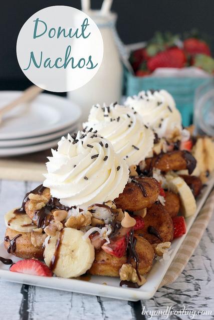 Donut Dessert Nachos   Beyond Frosting