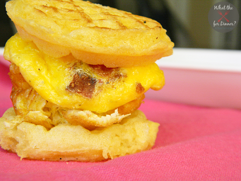 Bacon & Egg Waffle Mini Sandwich