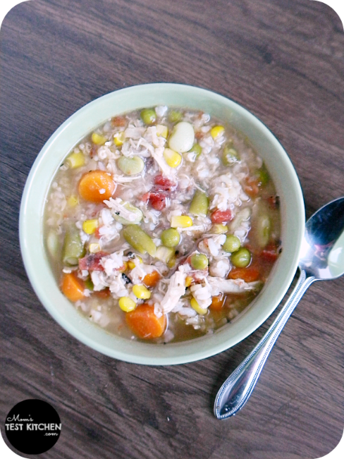 Quick & Easy Chicken & Rice Soup | MomsTestKitchen.com