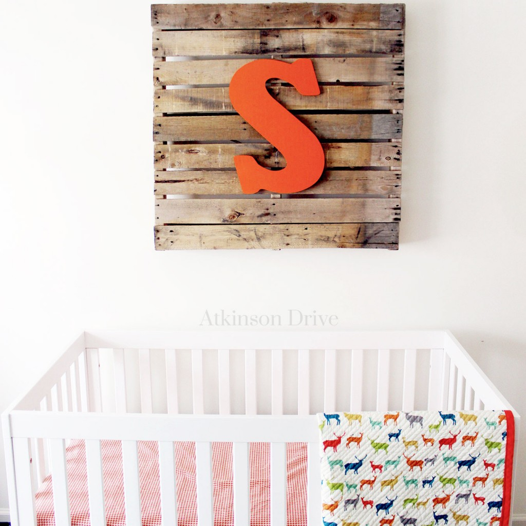 Rustic Nursery Pallet Art   Atkinson Drive