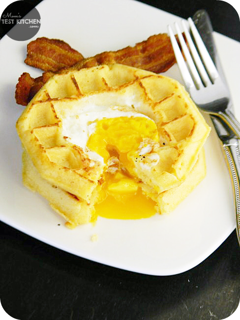 Egg in a Hole Waffles