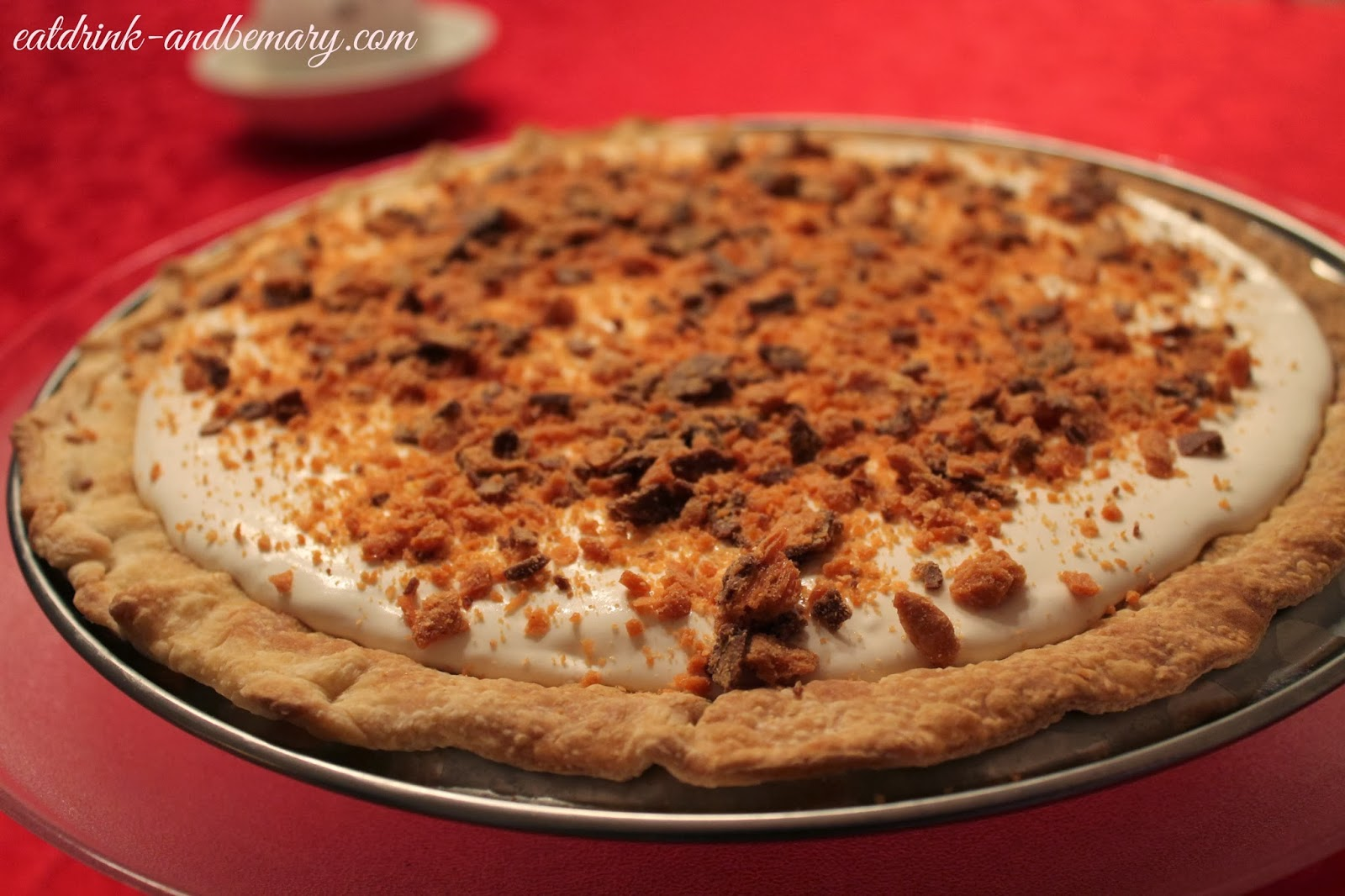 Peanut Butter Butterfinger Pie | Eat Drink & Be Mary