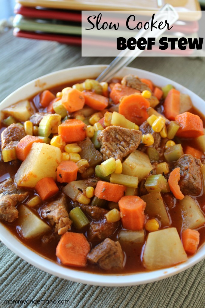 Slow Cooker Beef Stew | Mommy on Demand